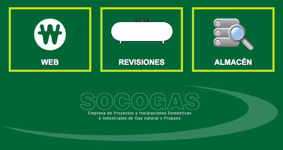 Management Application tanks and boilers | SocoGas S.A,